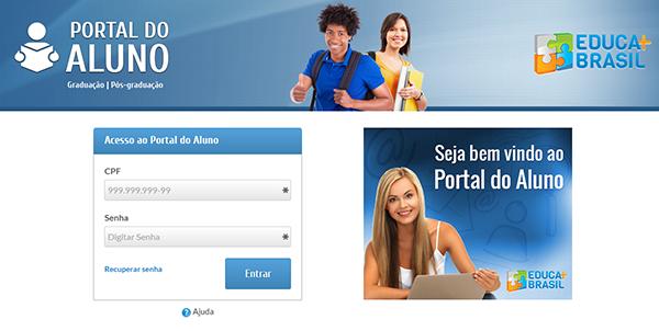 Portal do aluno Educa mais Brasil 2020